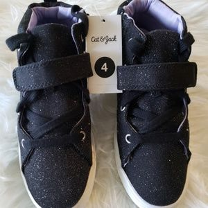 Cat & Jack Girls Regan High Top Glitter Sneakers